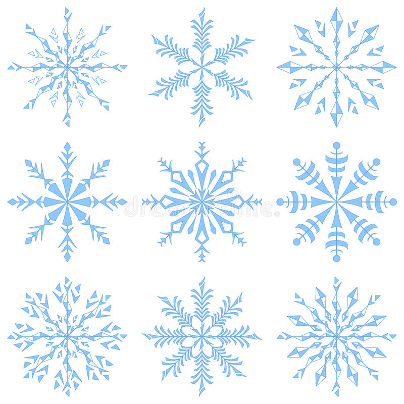 Download Snowflakes stock vector. Image of frozen, cold, contour - 26819270