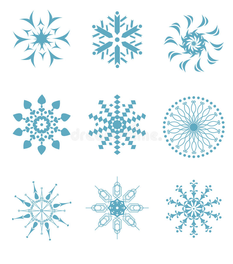 Download Snowflakes stock vector. Image of background, outside - 26932215