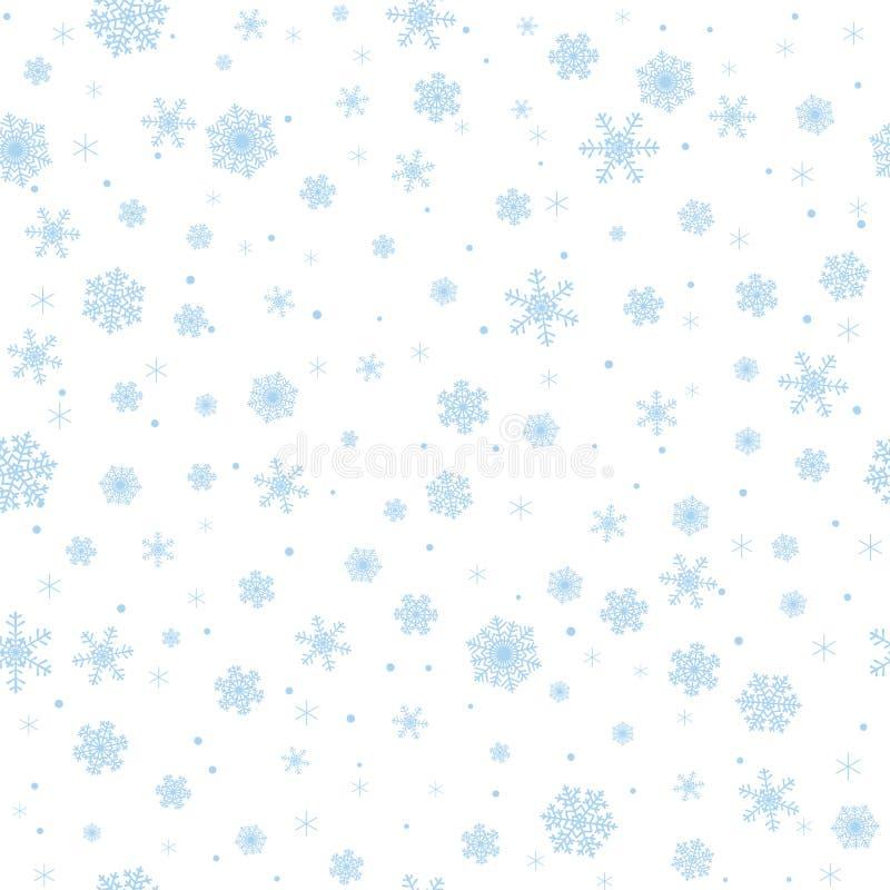 Snowflakes. Seamless winter background with snowflakes stock illustration