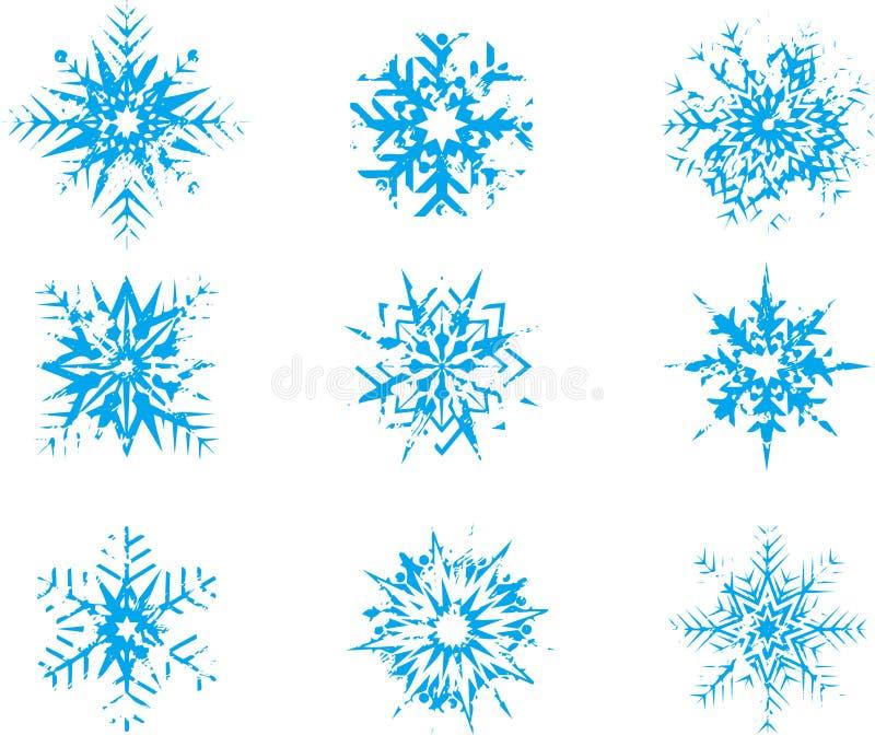 Download Snowflakes vektor illustrationer. Illustration av stjärnor - 27277378