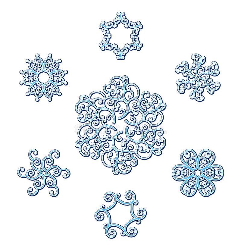 Download Snowflakes stock vector. Illustration of frost, doily - 27702864