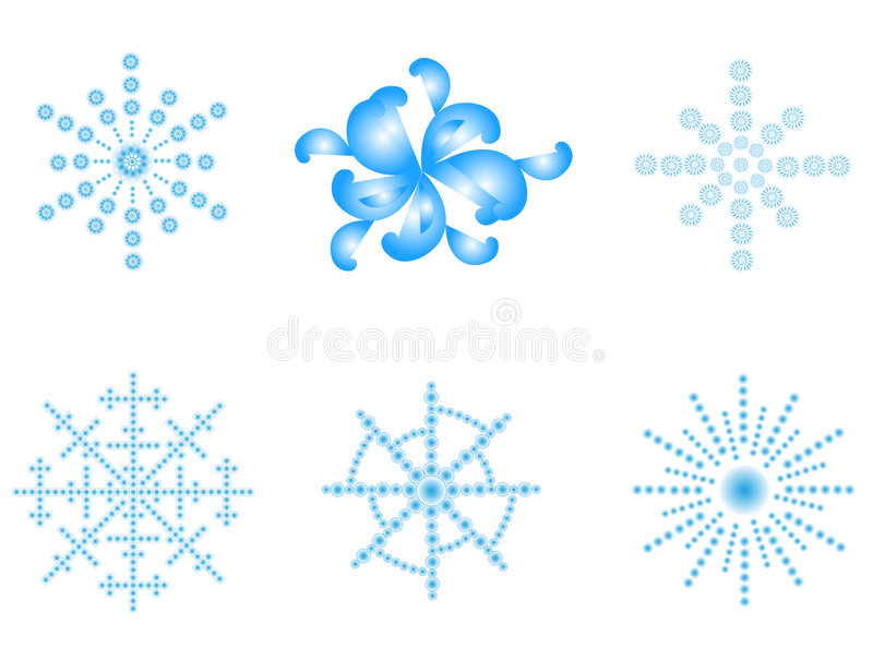 Snowflakes royalty free illustration