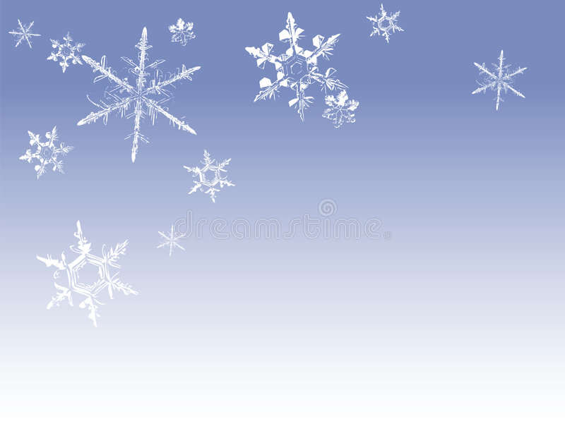 Snowflakes. On blue gradient background