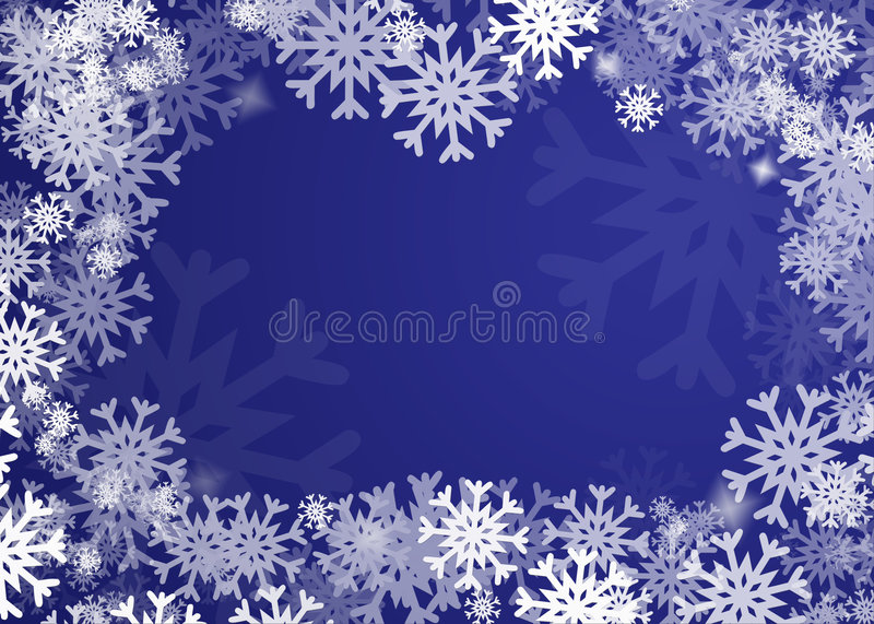 Snowflakes background stock illustration