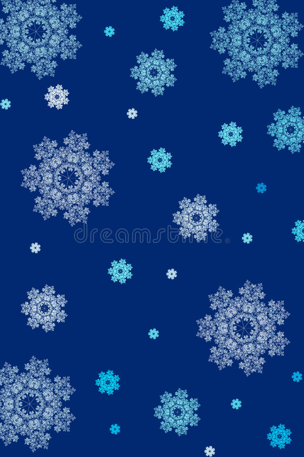 Download Snowflakes background stock illustration. Illustration of snowing - 1424061