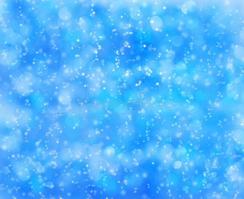 Snowflakes on a blue background royalty free stock photos
