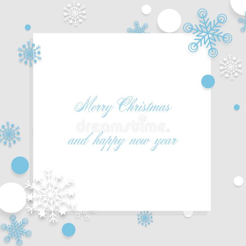 Snowflakes bożonarodzeniowe tło z wolną przestrzenią tekstową - Ilustracja wektorowa royalty ilustracja