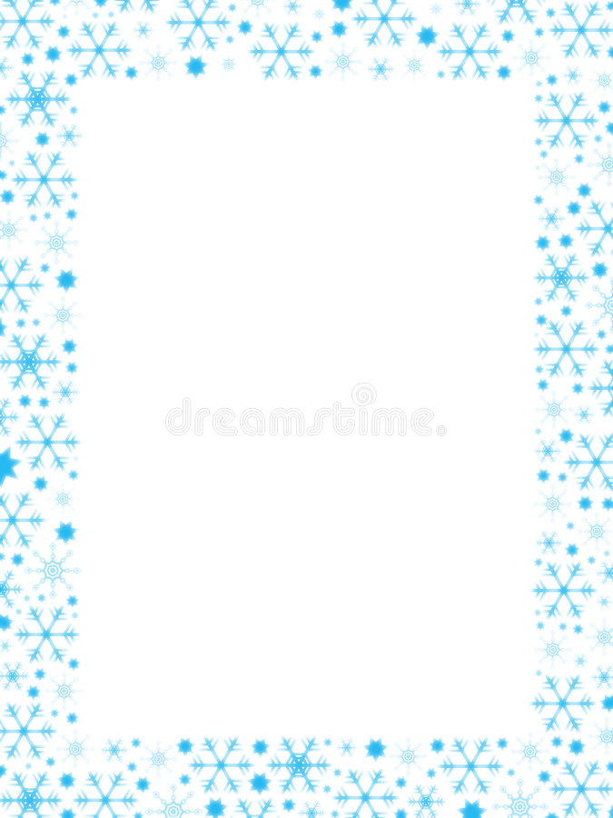 Snowflakes Border vector illustration