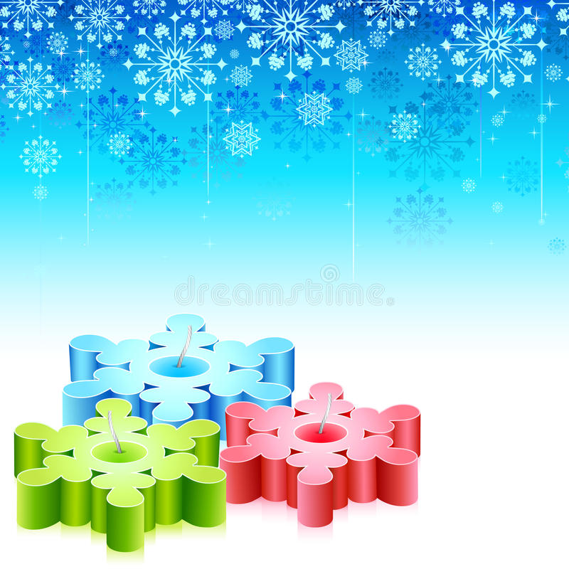 Snowflakes Candle Royalty Free Stock Image