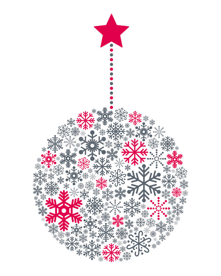 Download Snowflakes Christmas Ball stock vector. Image of greetings - 35415207