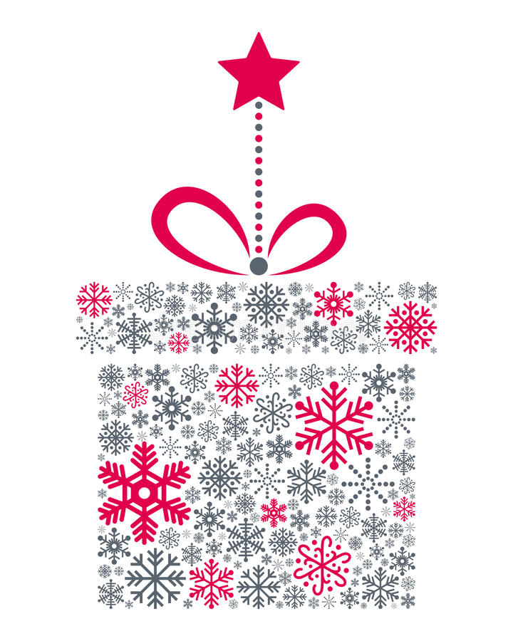 Free Snowflakes Christmas Gift Royalty Free Stock Image - 35415216