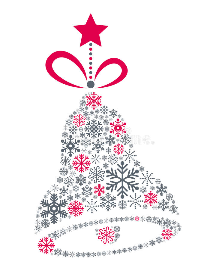 Download Snowflakes Christmas Jingle Bell Stock Vector - Image: 35644897