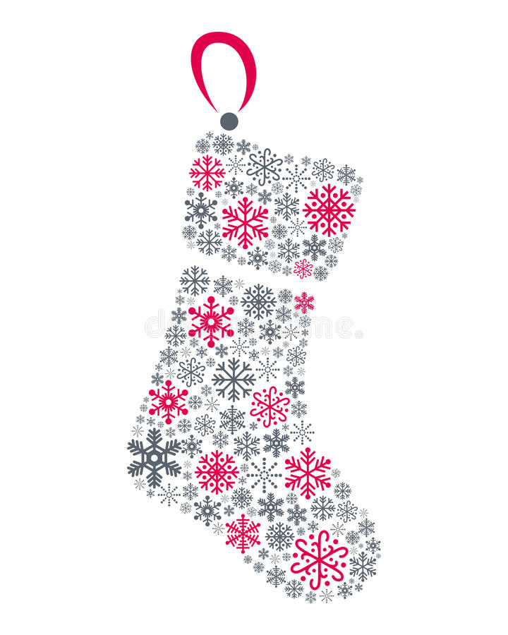 Download Snowflakes Christmas Sock stock vector. Image of traditional - 35644874