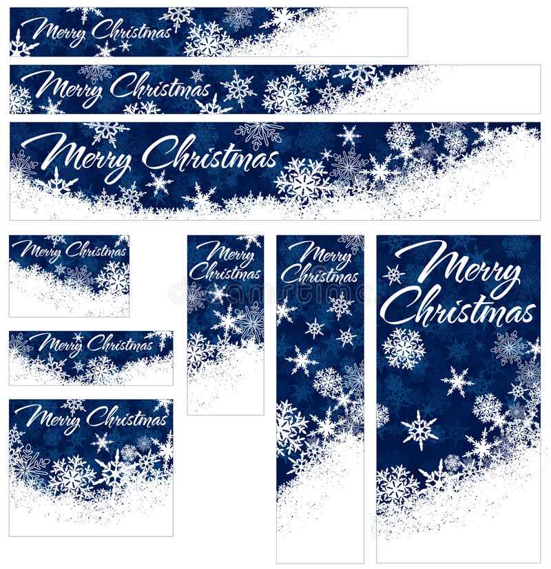 Download Snowflakes Christmas Web Banners Stock Vector - Image: 34432369