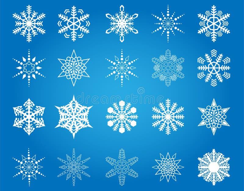 Snowflakes Collection Royalty Free Stock Photos