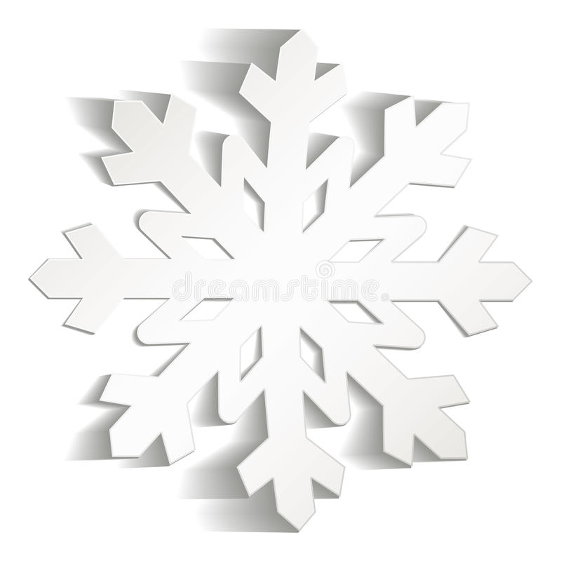 Download Snowflakes cut from paper stock vector. Illustration of frost - 28164704