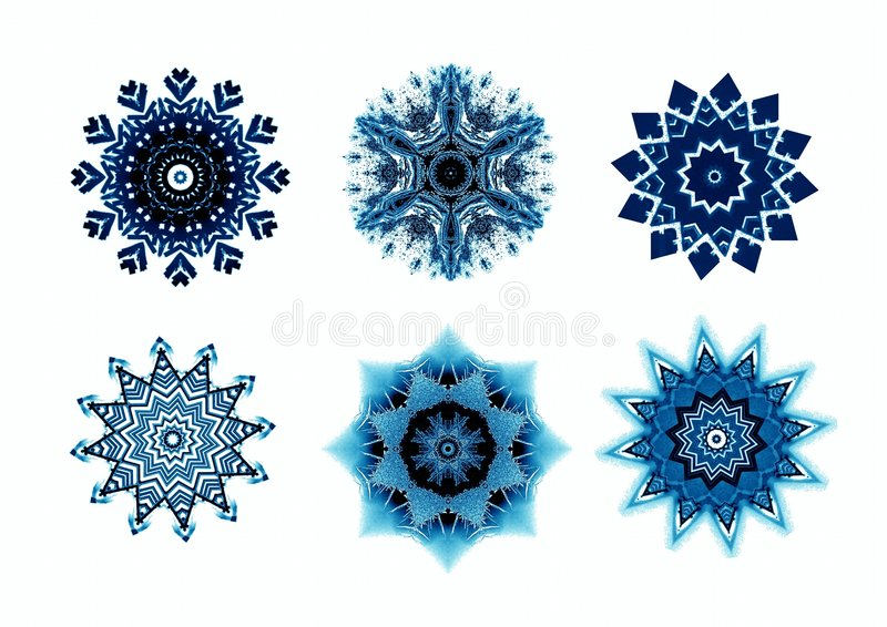 Snowflakes for design artwork. stock illustration