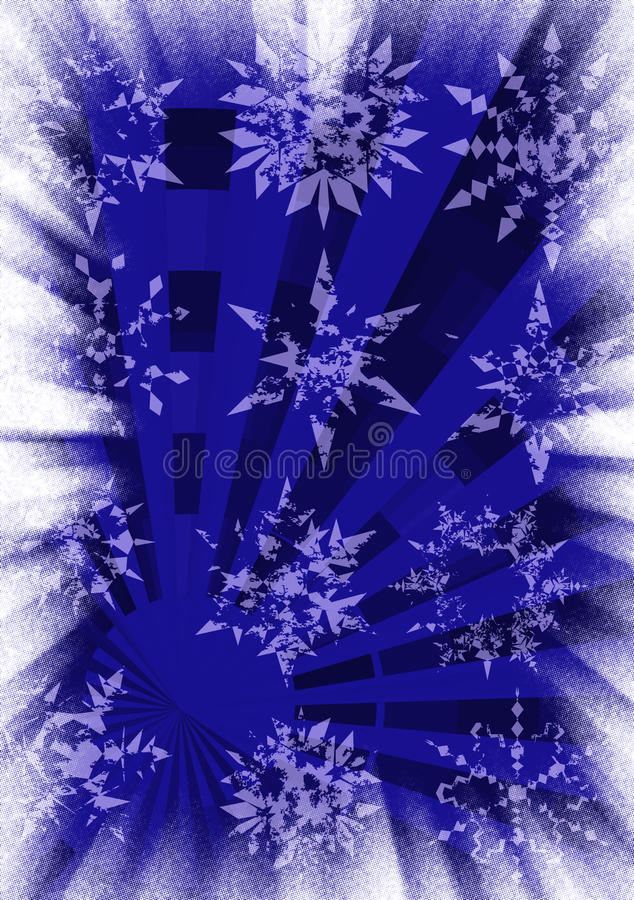 Snowflakes grunge background royalty free stock photography