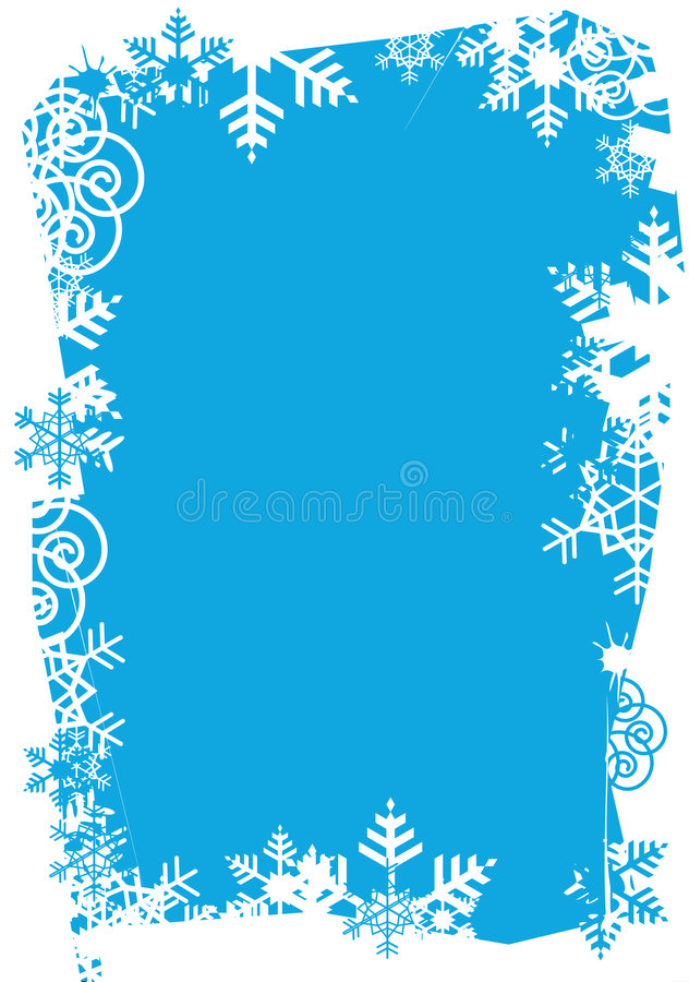 Snowflakes_grunge_frame vektor abbildung