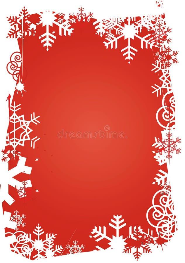Snowflakes_grunge_frame illustrazione di stock
