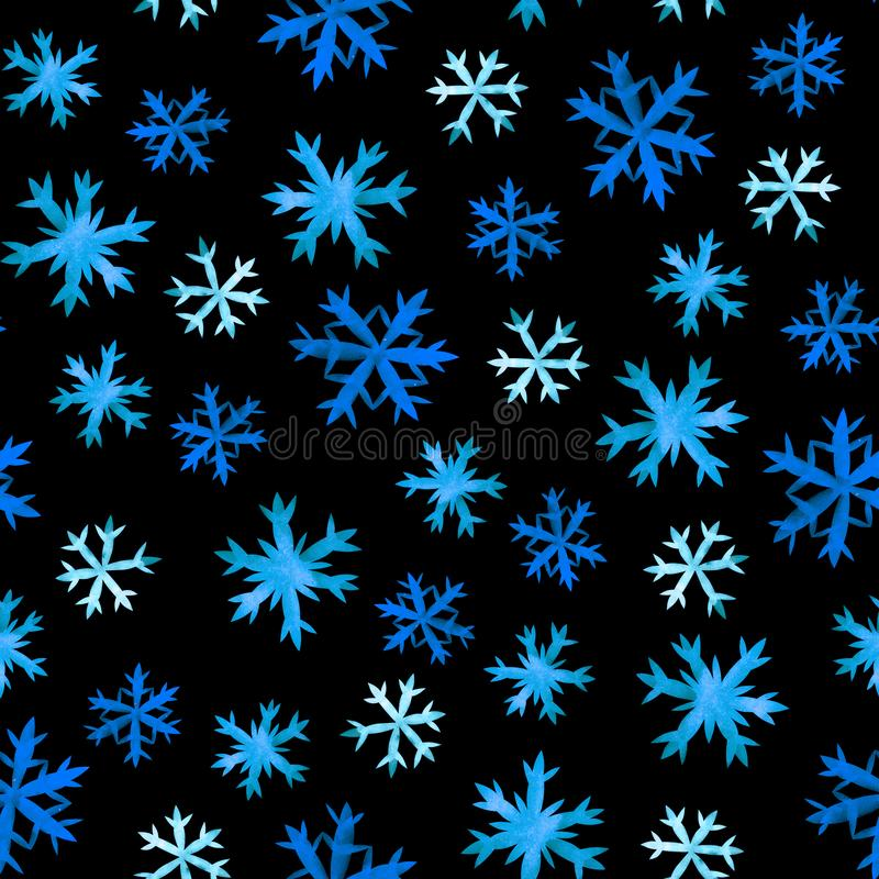 Snowflakes hand drawing stock illustration
