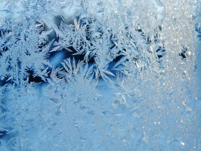 Snowflakes pattern as winter texture background stock image