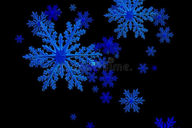 snowflakes illustration av snöflingor på svart bakgrund arkivfoton
