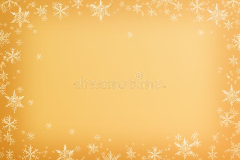 Snowflakes inramar royaltyfri bild