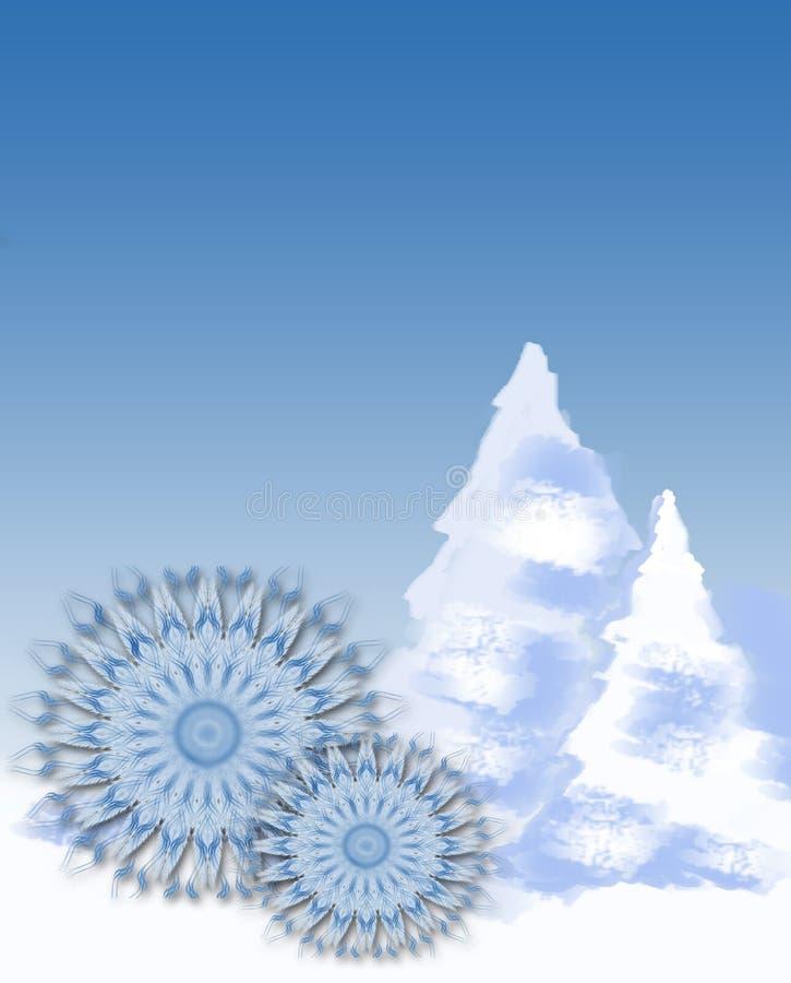 snowflakes MAS δέντρα Χ απεικόνιση αποθεμάτων