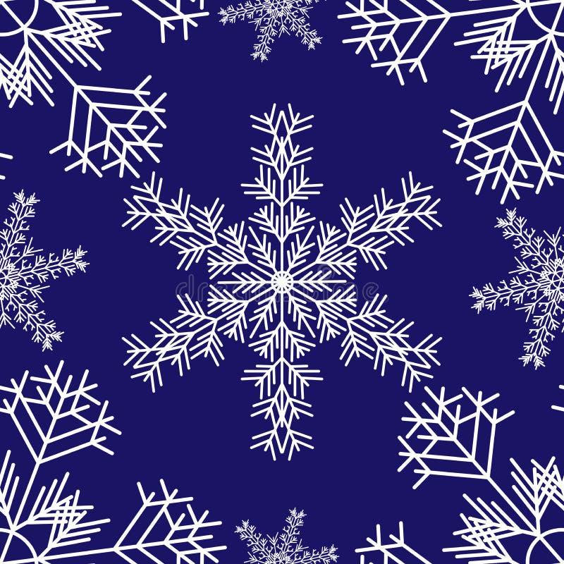 Snowflakes_pattern stock illustrationer