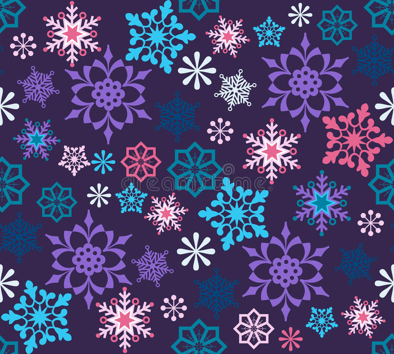 Download Snowflakes Seamless Pattern Stock Vector - Image: 21045771