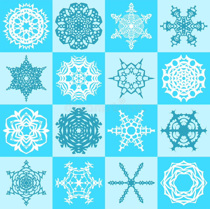 Download Snowflakes Seamless Pattern Stock Vector - Illustration of element, patterns: 21798574