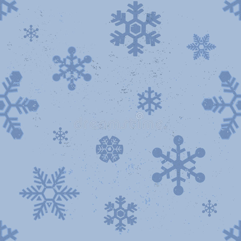 Snowflakes seamless pattern. Blue seamless pattern background with snowflakes vector royalty free illustration