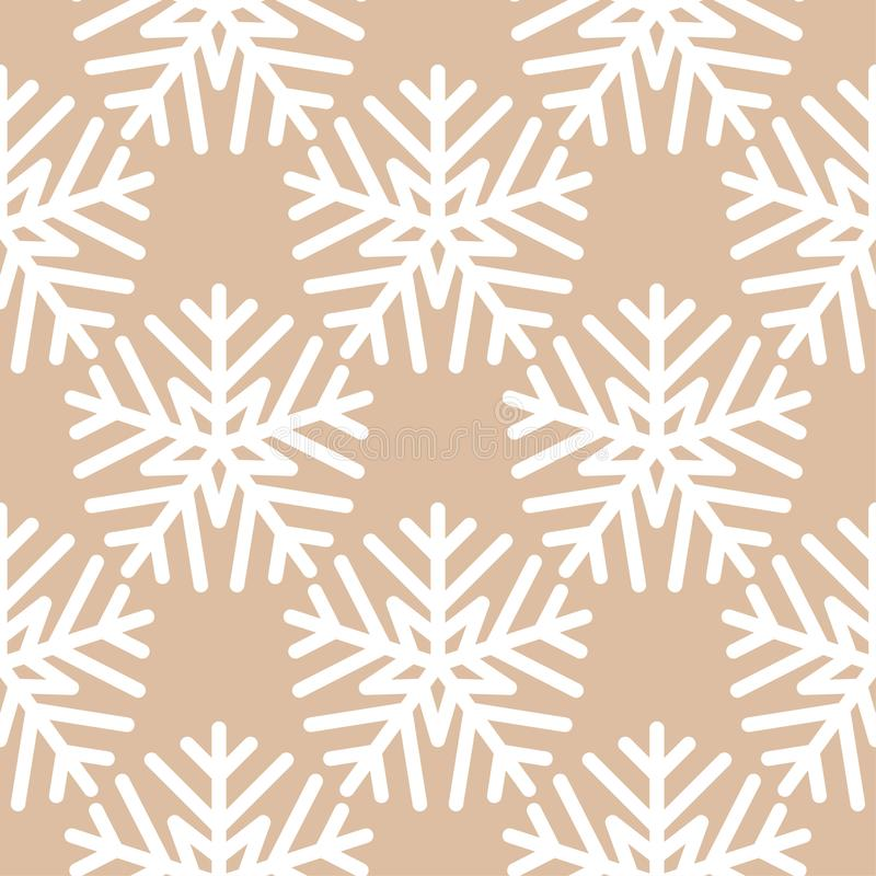 Snowflakes. Seamless pattern. Brown beige winter ornament royalty free illustration