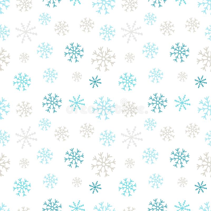 Snowflakes seamless pattern. Winter background. Christmas and New Year design wrapping paper design. Snowflakes seamless pattern. Winter background. Christmas stock illustration