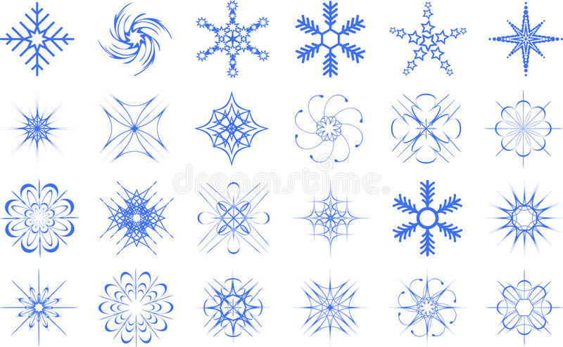 Download Snowflakes set stock vector. Image of white, snowflake - 17079611
