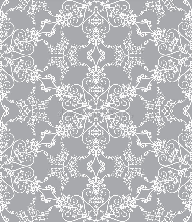 Snowflakes on silver background vector illustration