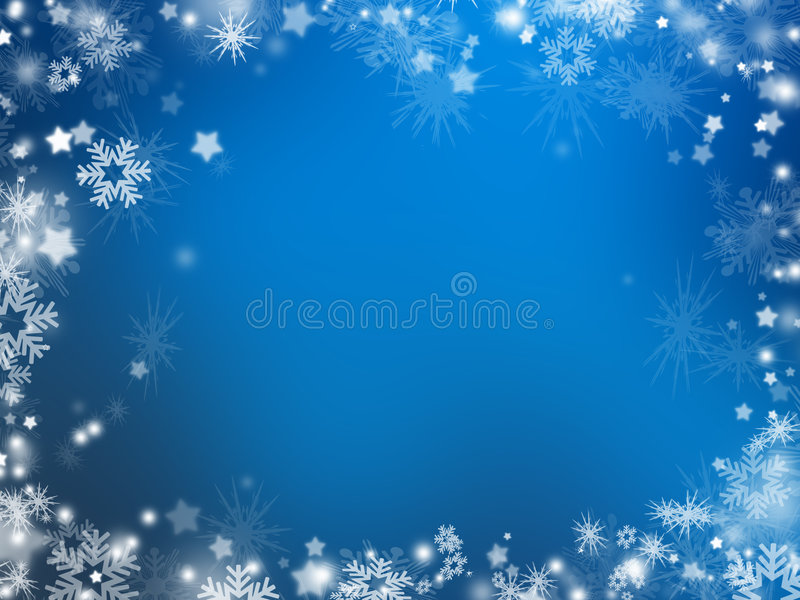 Snowflakes and stars stock illustration