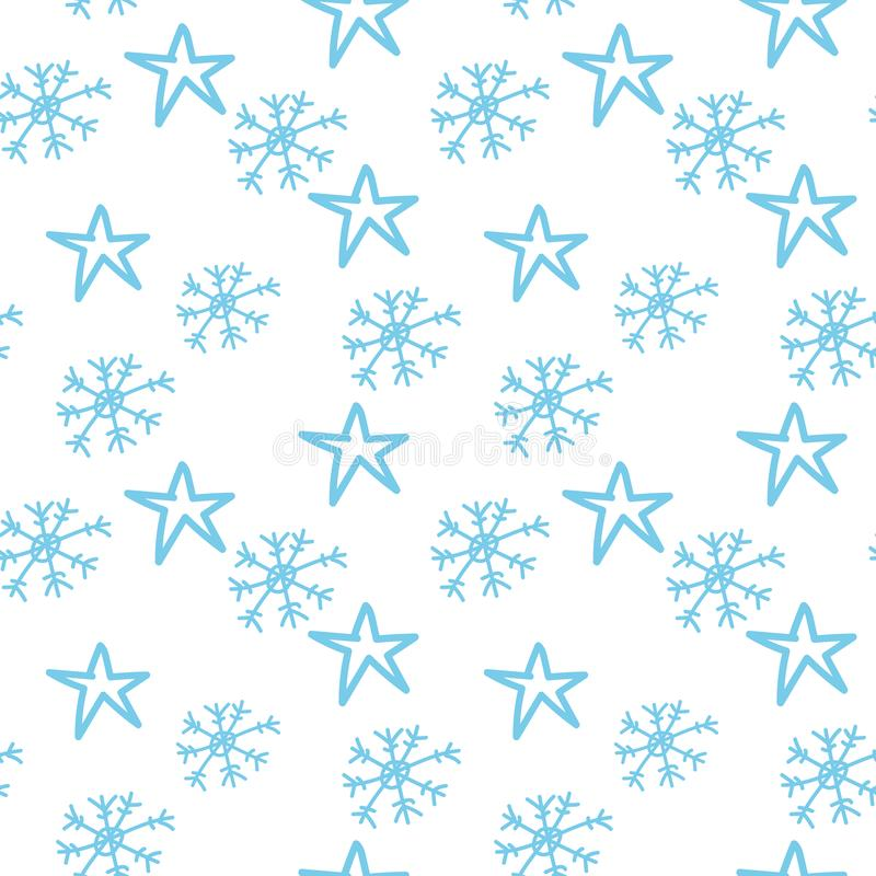 Snowflakes and stars royalty free stock photos