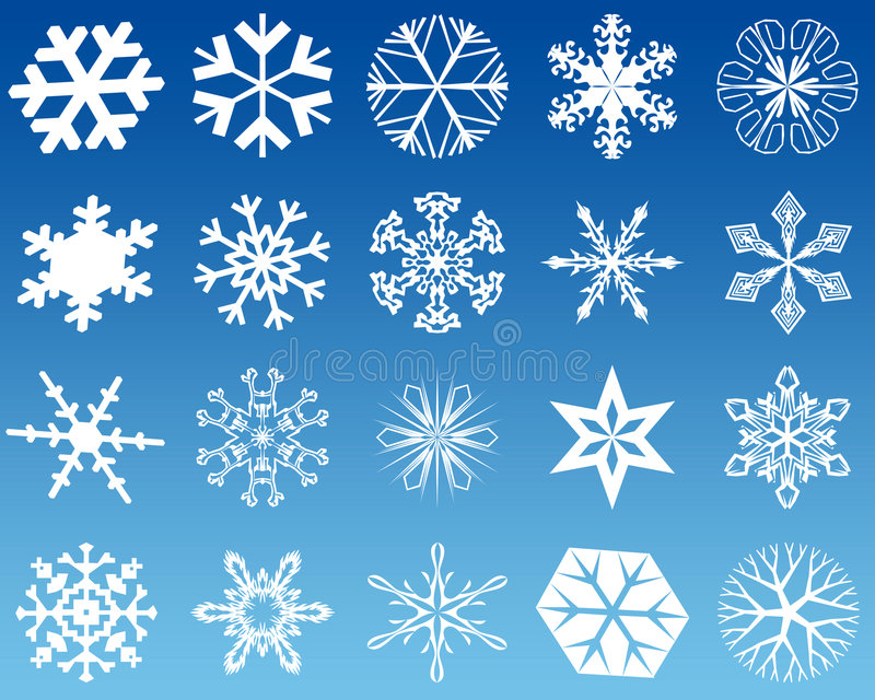 Download Snowflakes twenty stock illustration. Image of effects - 1651878