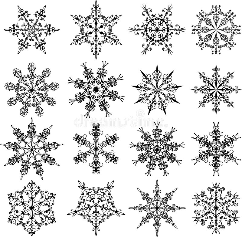 Snowflakes, vector royalty free illustration