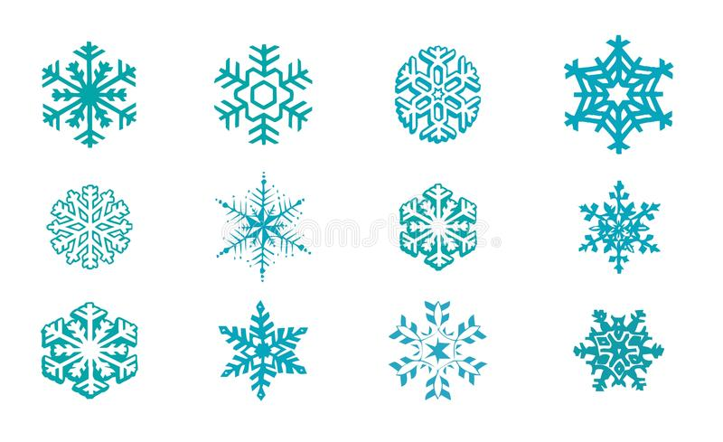 Download Snowflakes Vector stock illustration. Image of iceflower - 26465232