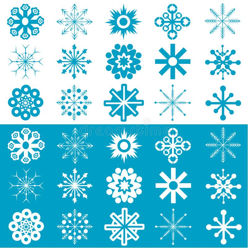 Snowflakes vector royalty free stock photos