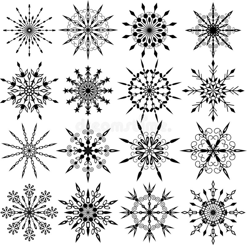 Snowflakes, vector stock illustration