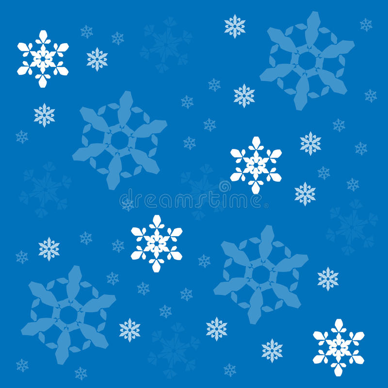 Snowflakes vector background royalty free illustration