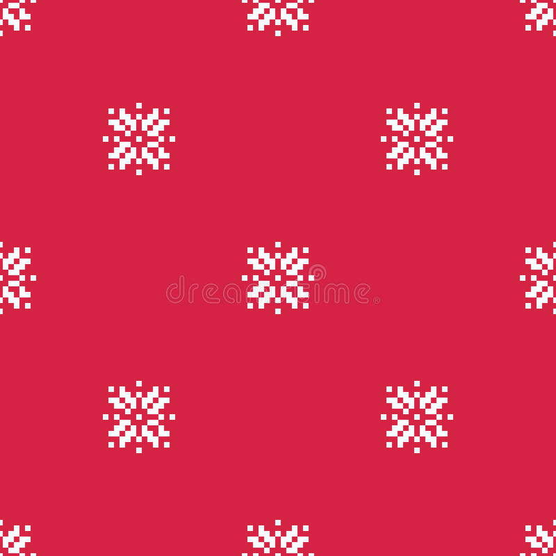 Snowflakes Vector Seamless Pattern royalty free stock image