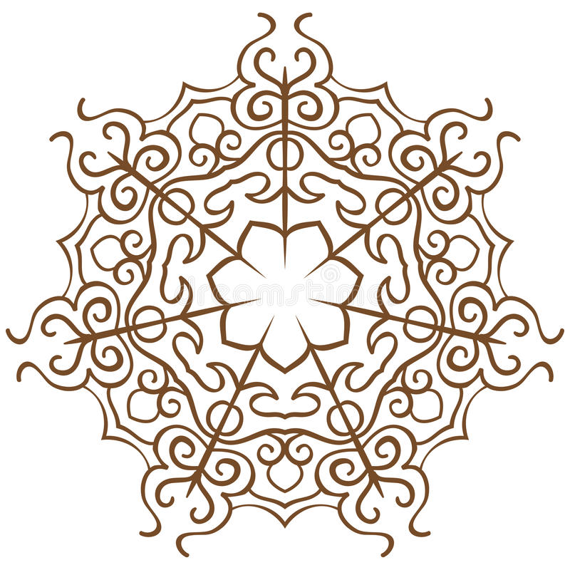 Snowflakes on a white. Vector pattern in the form of snowflakes on a white royalty free illustration