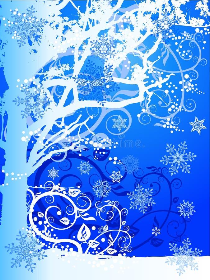 snowflakestreevinter royaltyfri illustrationer
