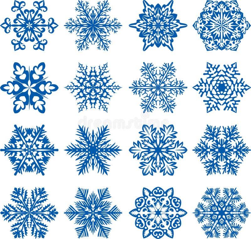 snowflakesvektor royaltyfri illustrationer