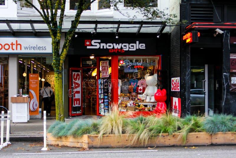 Snowggle prezenty, Vancouver, b C obrazy royalty free